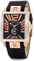 Cerruti I88I Men's Odissea Uomo Black Textured Dial Black Leather