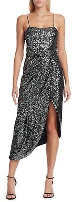 Derek Lam Lexis Sequin Side Slit Sheath Dress