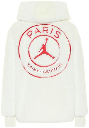 Nike Jordan Paris Saint-Germain faux-fur jacket