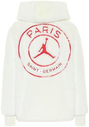 Nike Jordan Paris Saint-Germain faux-fur jacket