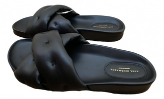 Anya Hindmarch Black Leather Sandals