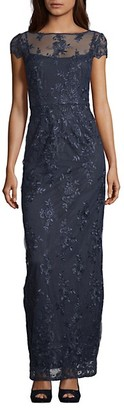 Adrianna Papell Corded Lace Gown