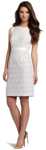BCBGMAXAZRIA Women's Alice Mixed Lace Sheath Dress