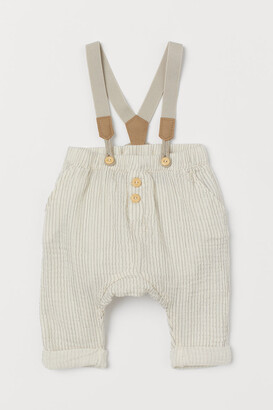H&M Cotton trousers with braces