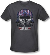 Top Gun Mens Maverick Helmet T-Shirt In