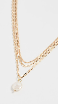 Jules Smith Designs Layered Freshwater Pearl Mop Necklace