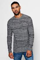 boohoo Space Dye Crew Neck Jumper