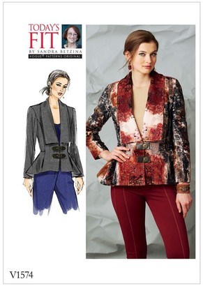 Vogue Women's Lined Jacket Sewing Pattern, 1574