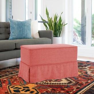 Red Barrel Studioâ® Linen Bench Red Barrel StudioA Color: Poppy