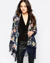 Jessica Wright Suzie Floral Tassle Kimono