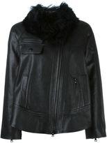 Proenza Schouler faux fur collar jacket - women - Lamb Skin/Polyester/Cupro - 2