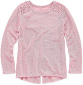 Arizona Round Neck Long Sleeve Fitted Sleeve Blouse - Preschool Girls