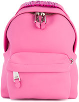 Moschino logo embossed backpack - women - rubber - One Size