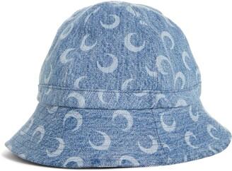 Marine Serre Crescent Print Upcycled Bucket Hat