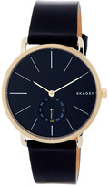 Skagen Men's Hagen Leather Strap Watch