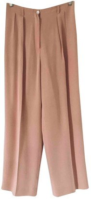 Non Signé / Unsigned Non Signe / Unsigned Hippie Chic Pink Silk Trousers