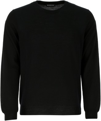 Balenciaga Logo Crewneck Knitted Sweater