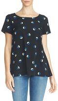 1 STATE 1.State Geometric Print Chiffon Shirt