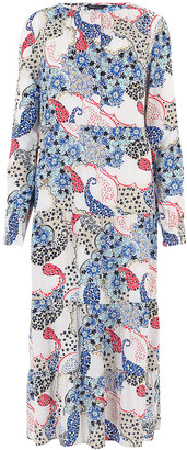 Marks and Spencer Paisley Tiered Midi Relaxed Dress