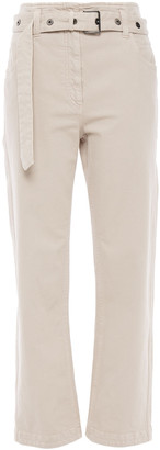 Brunello Cucinelli Belted High-rise Straight-leg Jeans