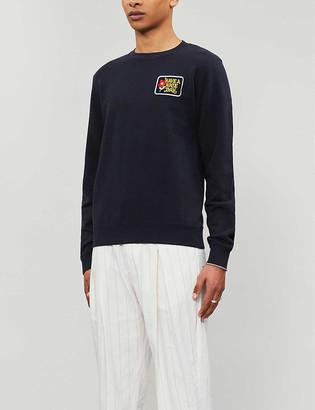 Sandro Have A Nice Day cotton-jersey sweatshirt