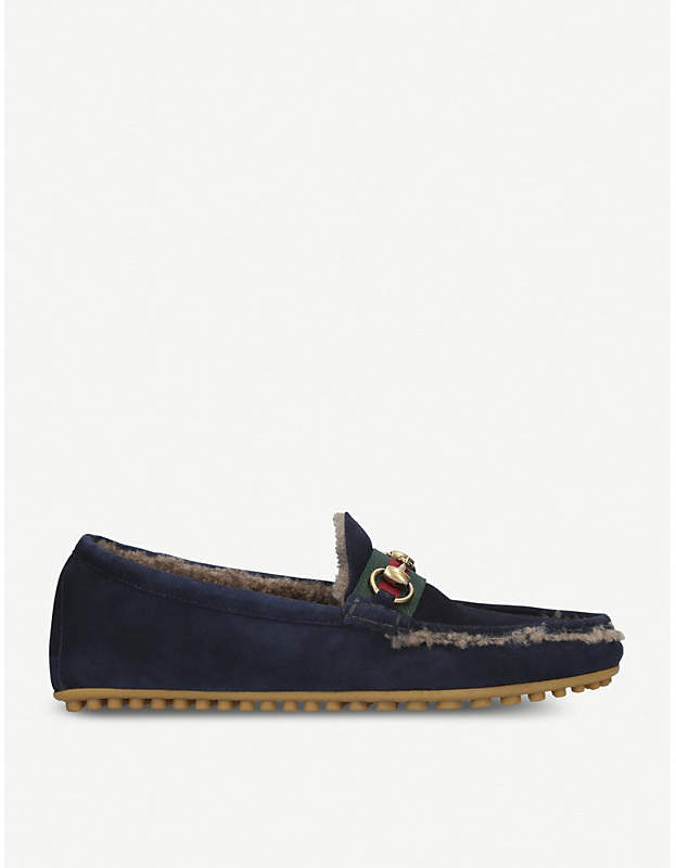Gucci Kanye suede and shearling driving shoes