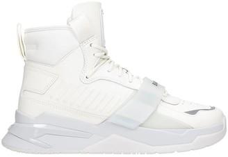 Balmain Sneakers In White Leather
