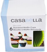 "Casabella Muffin Cups Standard 3"" Silicone Set Of 6"