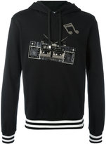 Dolce & Gabbana boombox patch hoodie - men - Silk/Cotton/Polyester/glass - 50