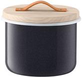 LSA International Utility Container & Ash Lid dia18cm Pepper Black