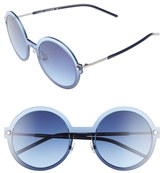 Marc Jacobs Women's 54Mm Round Sunglasses - Ruthenium/ Blue