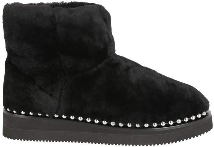 Alexander Wang Fur Studded Trim Boots