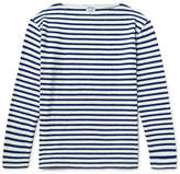 orSlow Striped Slub Cotton-Jersey T-Shirt