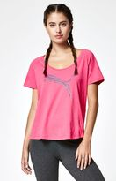Puma Elevated Layer Scoop Neck T-Shirt