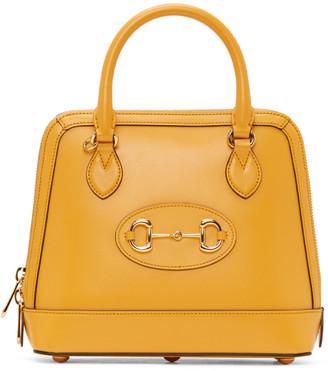 Gucci Yellow 1955 Horsebit Top Handle Bag