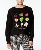 Freeze 24-7 Juniors' Cute And Hungry Graphic Sweatshirt
