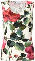 Blugirl roses print tank - women - Spandex/Elastane/Viscose - 42