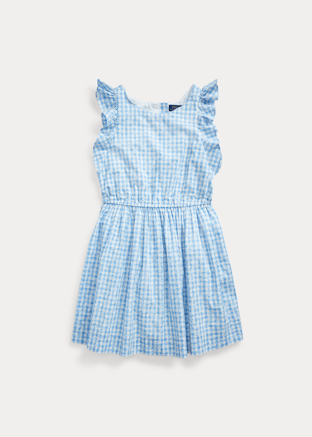 Ralph Lauren Gingham Cotton Poplin Dress