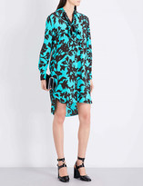 Diane von Furstenberg Floral-print silk-crepe shirt dress
