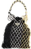 Prada Rete Colorblock Top Handle Drawstring Bag