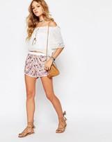 Raga Picnic Embellished Shorts