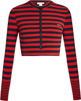 Stella McCartney Calypso cropped rash-guard top