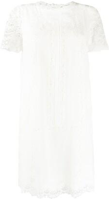Ermanno Scervino lace-trimmed dress