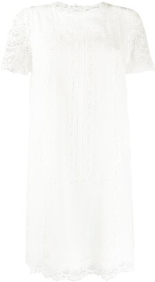 Ermanno Scervino Lace-Trimmed Dress