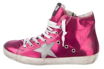 Golden Goose Francy High-Top Sneakers w/ Tags