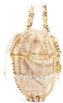 Rosantica Ginestra Crystal-embellished Clutch - Gold