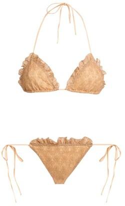 Missoni Ruffle-Trim Lurex Bikini