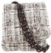 Chanel Camellia Tweed Messenger Bag