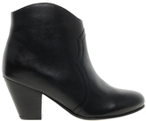 Dune Leather Western Ankle Boot