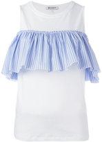 Dondup pleated trim top - women - Cotton - L